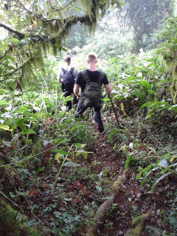Climbing mount lesung bali