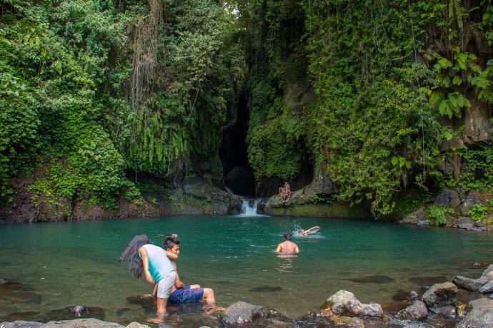 sambangan waterfall sacred garden bali