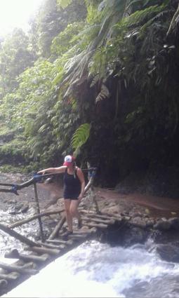 The route to reach sekumpul waterfalls