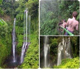 Trekking in sekumpul waterfall bali