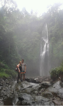 Trekking to sekumpul waterfalls with nice couple