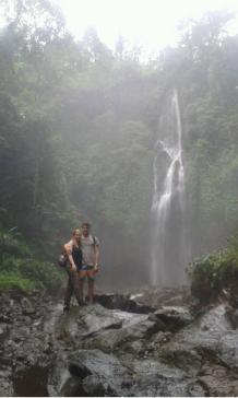 Trekking to sekumpul waterfalls with nice couple