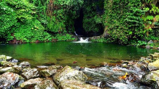 sambangan sacred garden waterfalls
