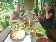 Balinese lunch experiences after hike around Mayong Village