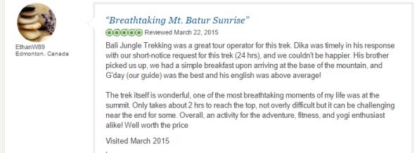 Mount batur trekking reviews