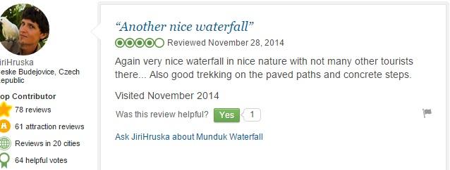 Munduk Waterfall Revews