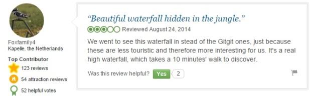 Munduk Waterfall Revews 2