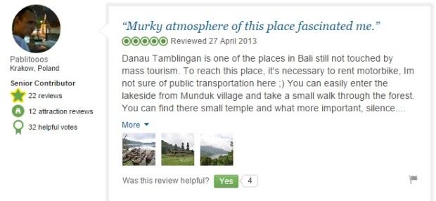Tamblingan Lake comment 6