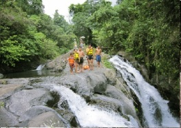 sambangan waterfall trek