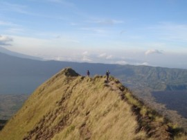 from the top of mount batur bali