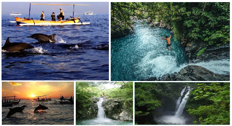 Lovina Dolphin tour and Sambangan waterfalls