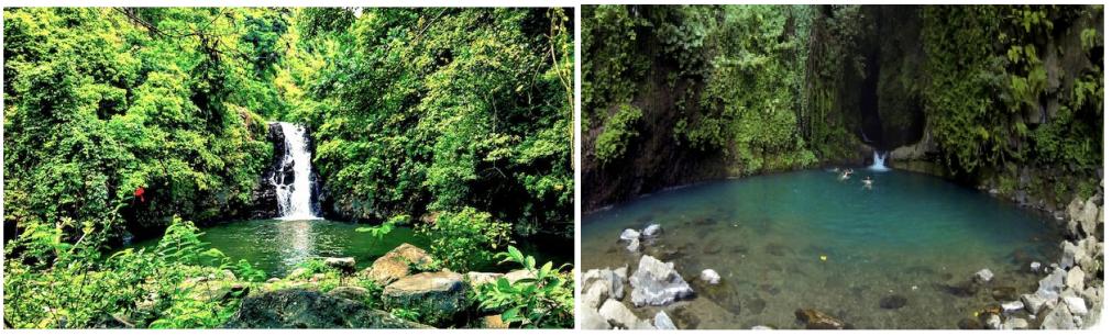 Sambangan sacred garden waterfall-trekking