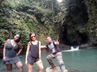 Hiking adventure to Blue Lagoon Sacred Garden in sambangan village with Bali Jungle Trekking Team Guide