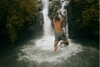 jumping-at-kroya-waterfalls-sambangan-trekking-with-local-guide