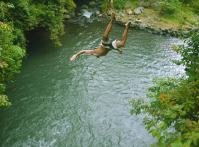 jumping-at-pucuk-waterfalls-sambangan-trekking-with-local-guide