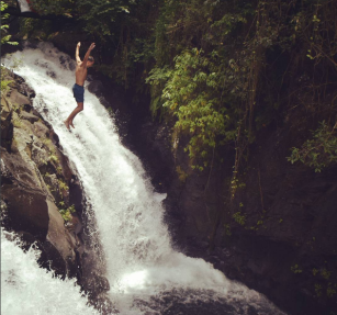 jumping-style-at-kroya-waterfalls-sambangan-trekking-with-local-guide