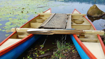 Traditional dugout canoe