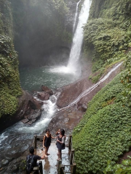 visiting aling aling waterfalls Bali Jungle Trekking Team Guide
