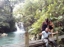 visiting Kroya waterfalls with Bali Jungle Trekking Team Guide