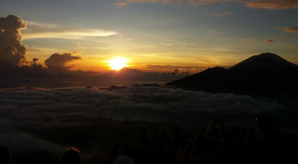 Sunrise from the top of MountBatur