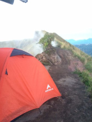 Camping at the top Submit of mt Agung